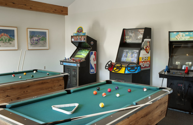 Rec room at the Summit Resort.
