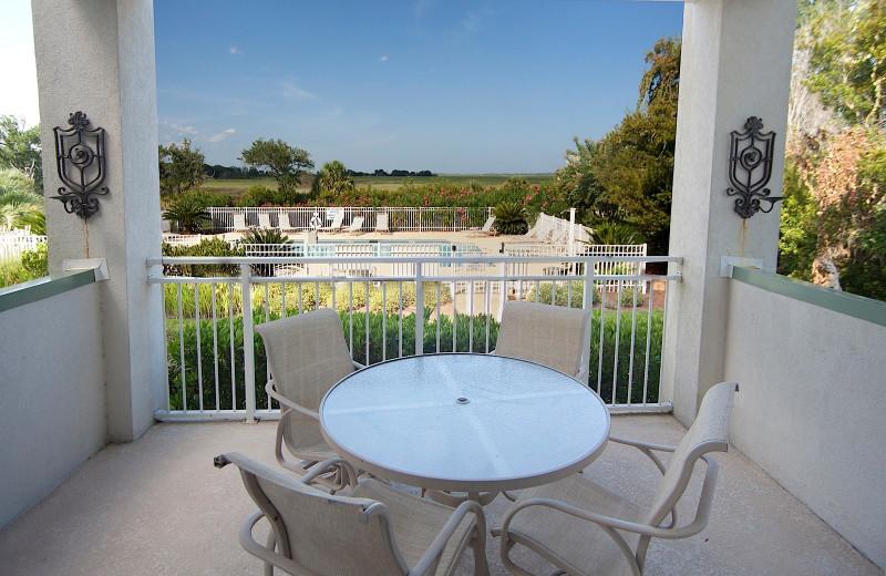 Balcony view at Sea Palms Resort.