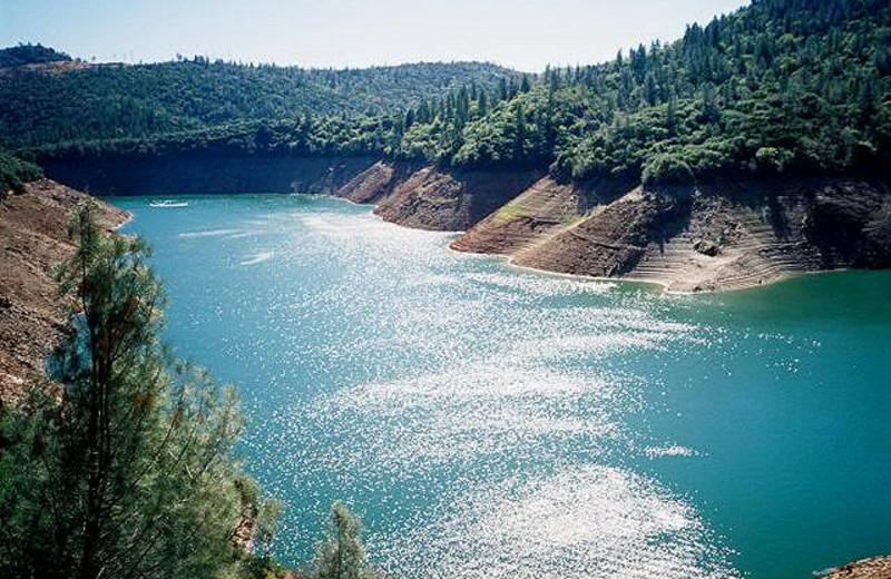 View of lake at Lake Oroville.