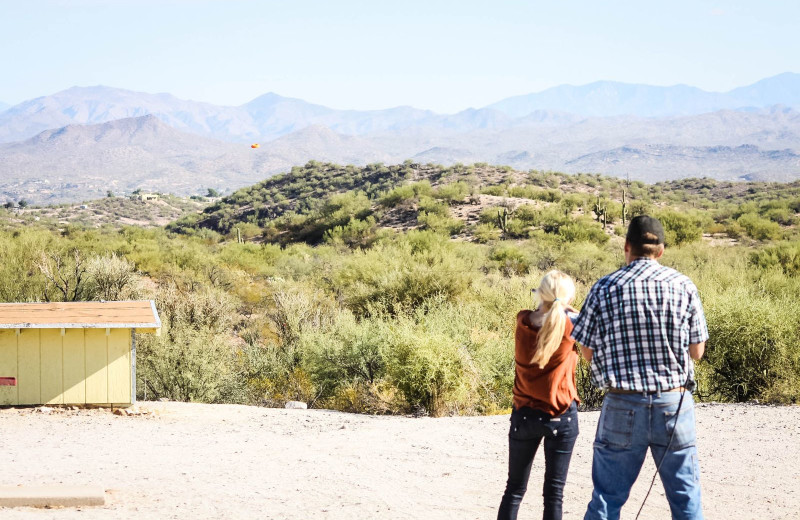 Shooting range at Rancho De Los Caballeros.