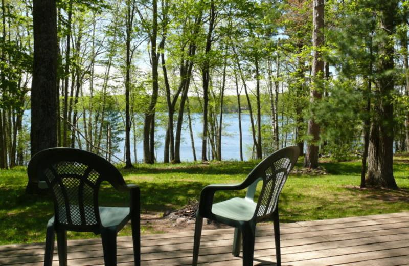 Lake view at Deer Trail Lodge.