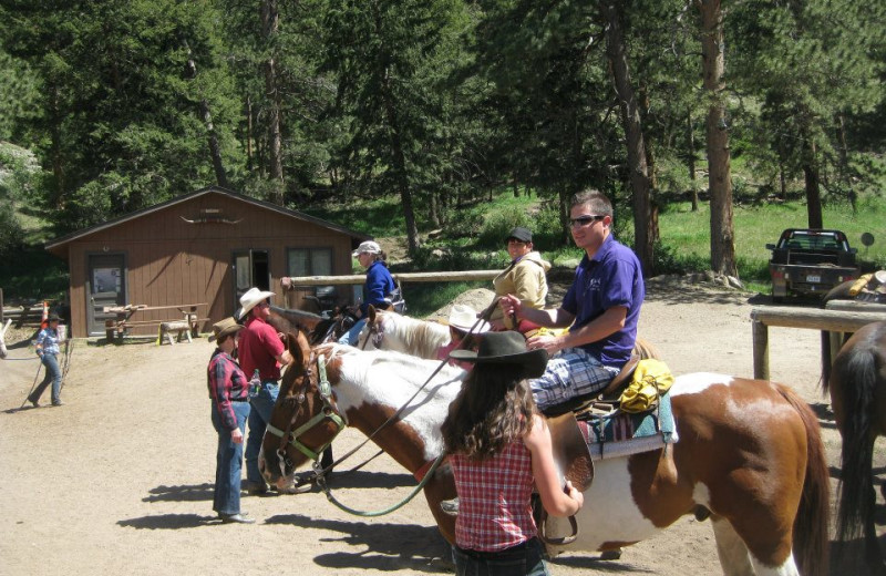 Horseback riding at Alpine Trail Ridge Inn.