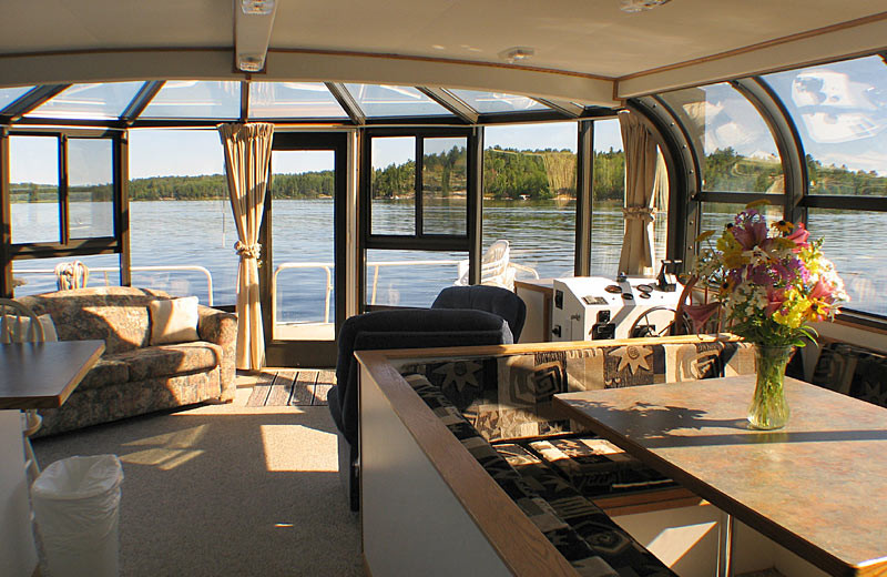 Houseboat interior at Voyagaire Lodge and Houseboats.