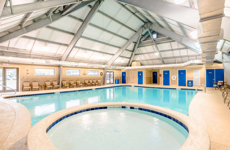Rental indoor pool at Harris Properties Management.