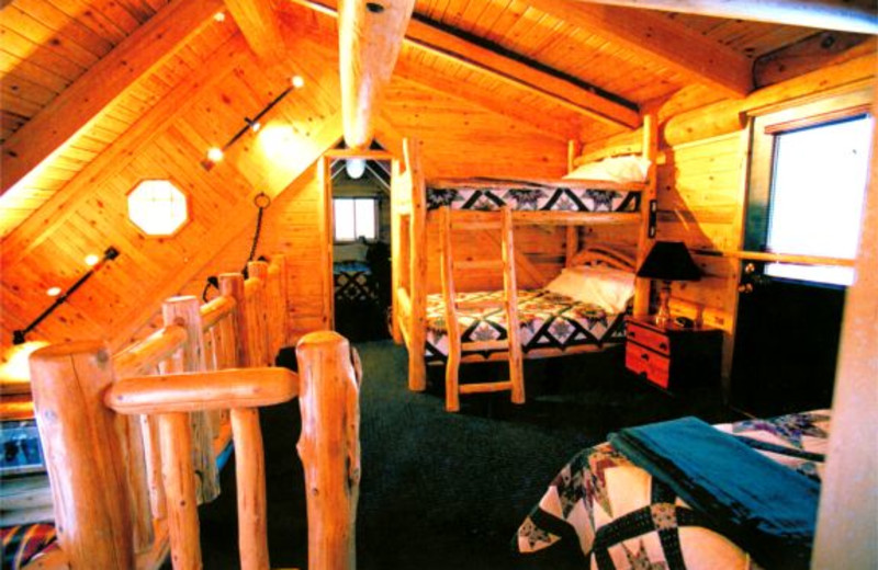 Guest bedroom at Voyageurs Landing Resort.