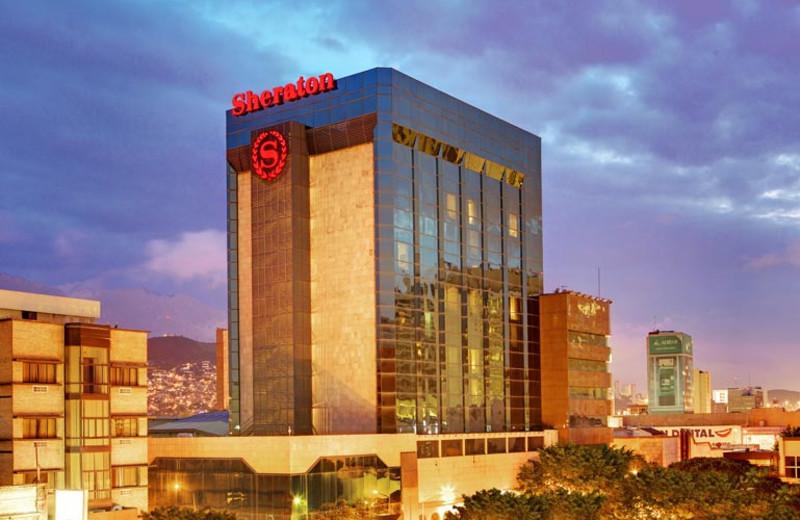 Exterior view of Sheraton Ambassador Hotel.
