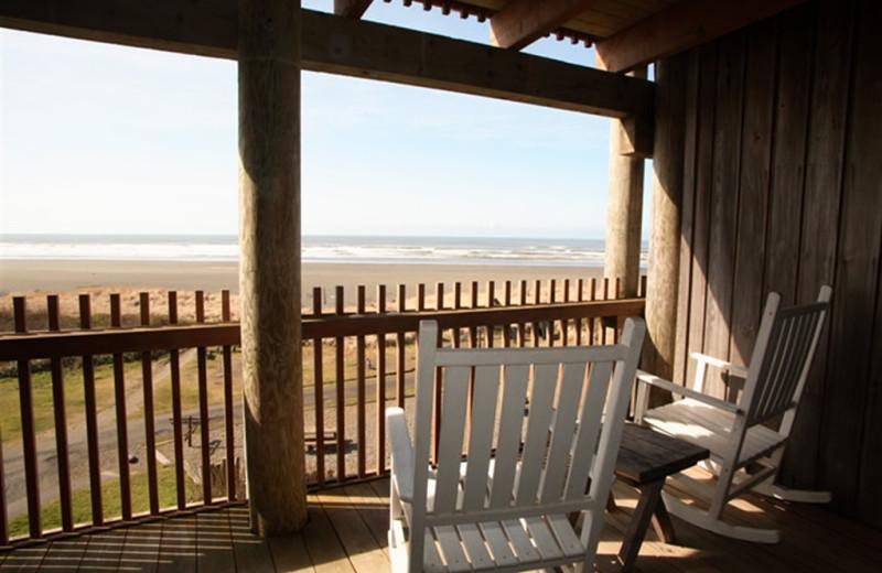 Beach view at Sandpiper Beach Resort.