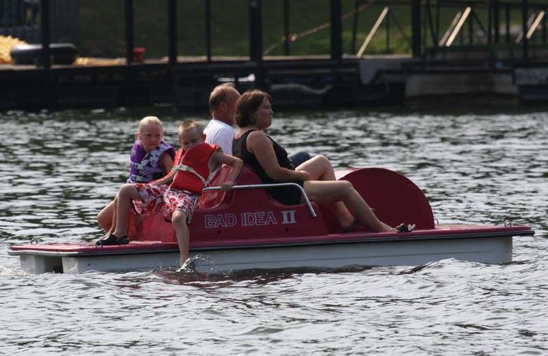 Paddle boat at Point Randall Resort.