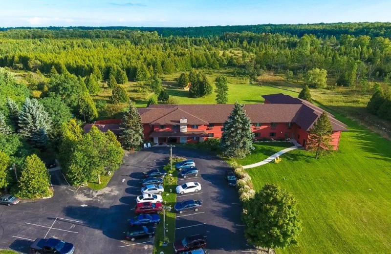 Aerial view of Open Hearth Lodge.