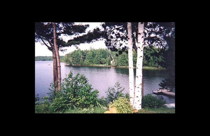 Lake view at Wintergreen Lake Resort.