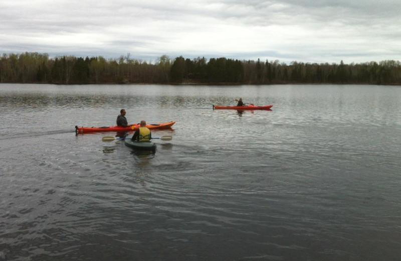 Kayaking at Timber Wolf Lodge Cabins.