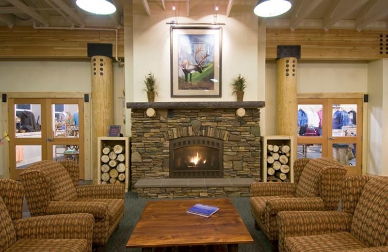 Lobby at Denali Park Resorts.