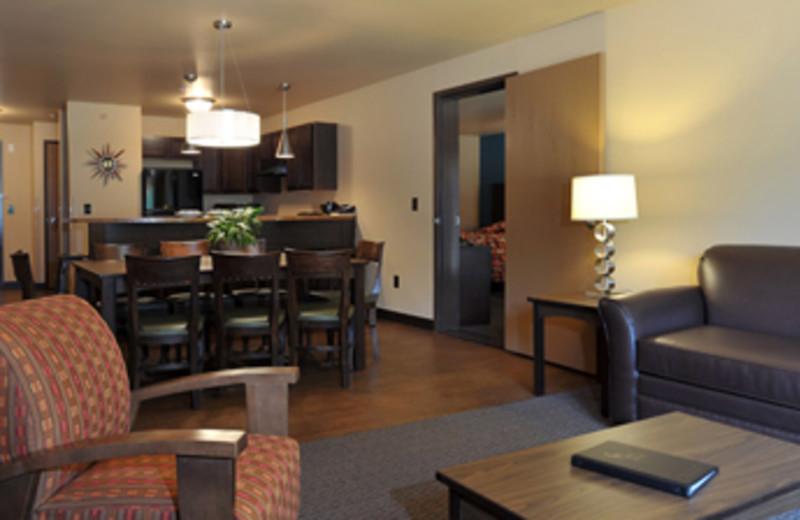 Living room at Baker's Sunset Bay Resort.