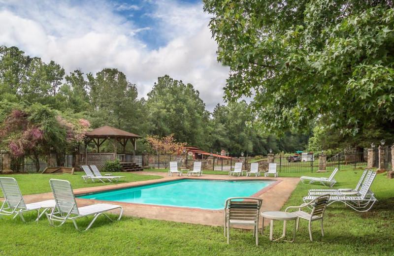 Outdoor pool at Forrest Hills Resort.