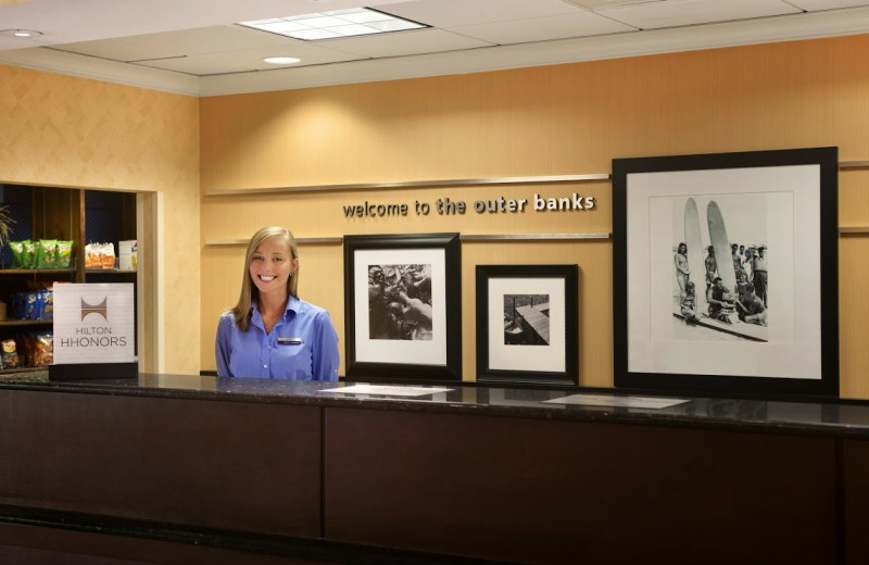 Front desk at Hampton Inn & Suites Outer Banks/Corolla.