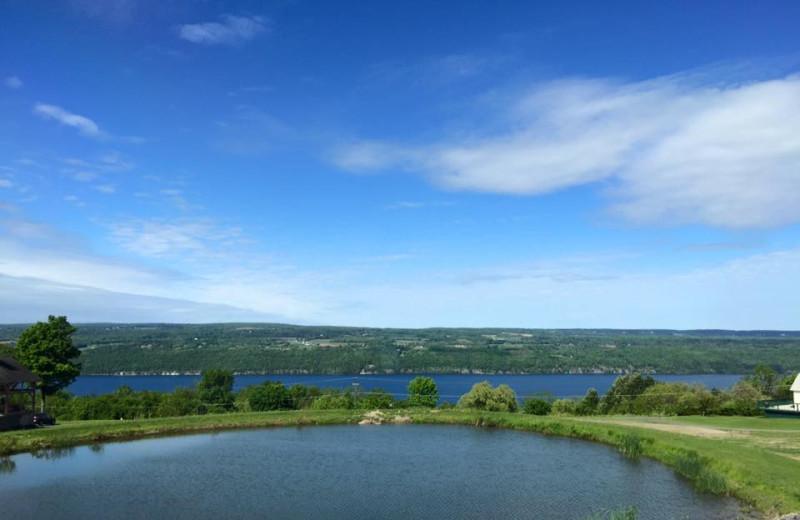 Lake view at The Inn at Grist Iron.