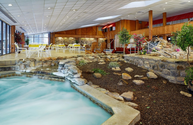 The indoor pool at Cove Haven Resort.