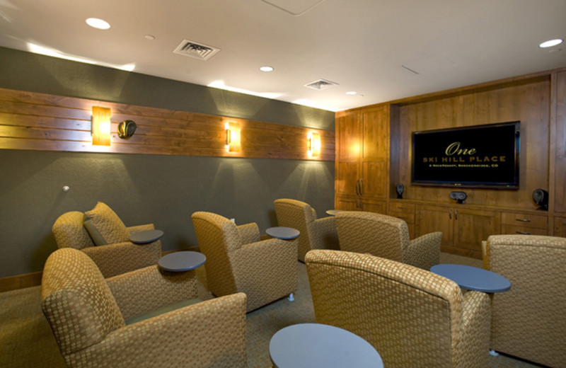 Movie theater at One Ski Hill Place.