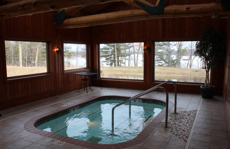 Indoor hot tub at Big Sandy Lodge & Resort.