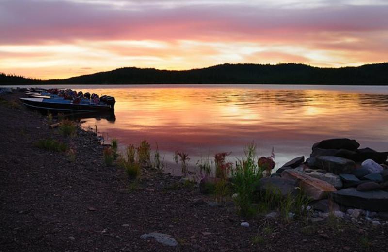 Sunset at Plummer's Arctic Fishing Lodges.