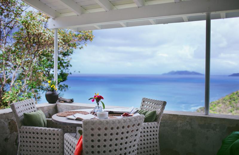 Balcony at Guana Island Resort.
