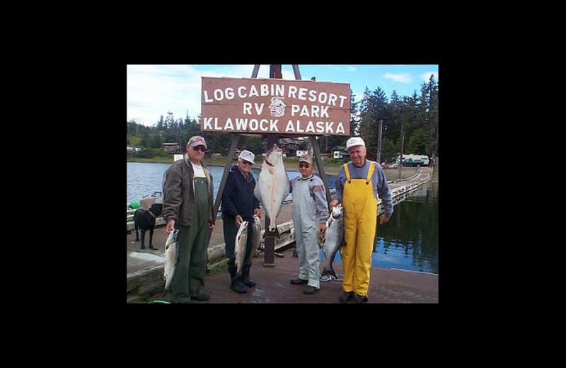 Fishing at Log Cabin Resort & RV Park.