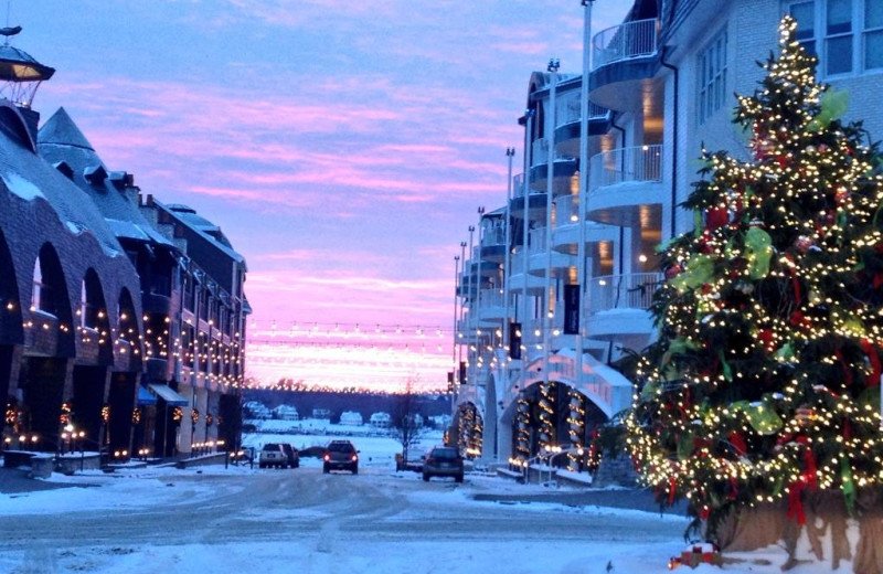 Winter time at Bay Harbor Resort and Marina.