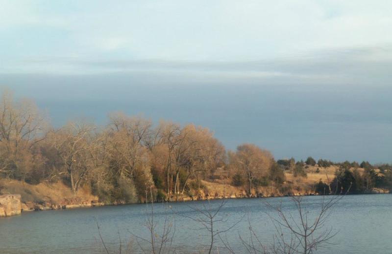 The lake at Granite Springs Lodge.