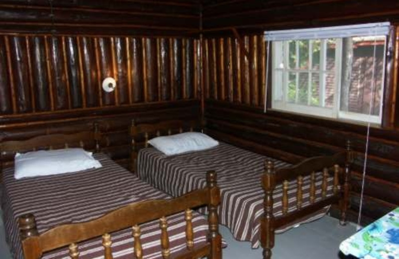 Cabin interior at Wolseley Lodge.
