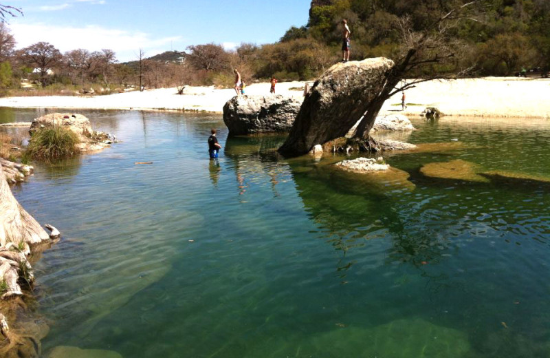 Swimming hole at Neal's Lodges.