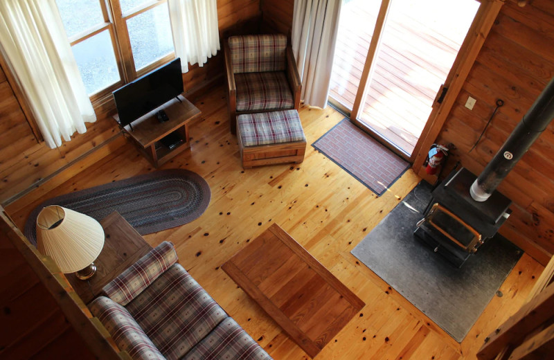 Guest living room at Unity College Sky Lodge.