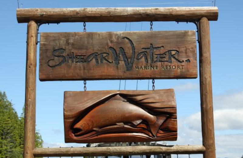 Shearwater Resort & Marina sign.