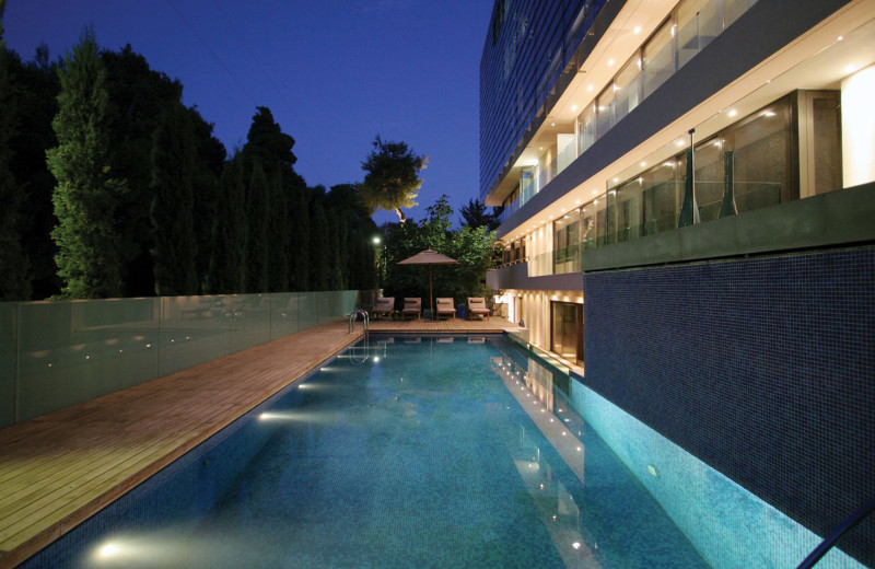 Outdoor pool at Life Gallery Athens.