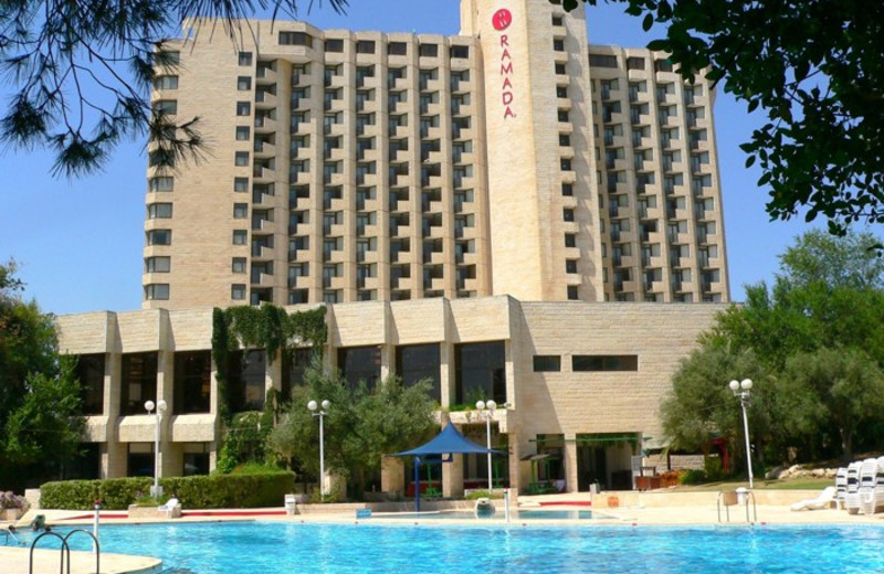 Outdoor pool at Ramada Jerusalem.