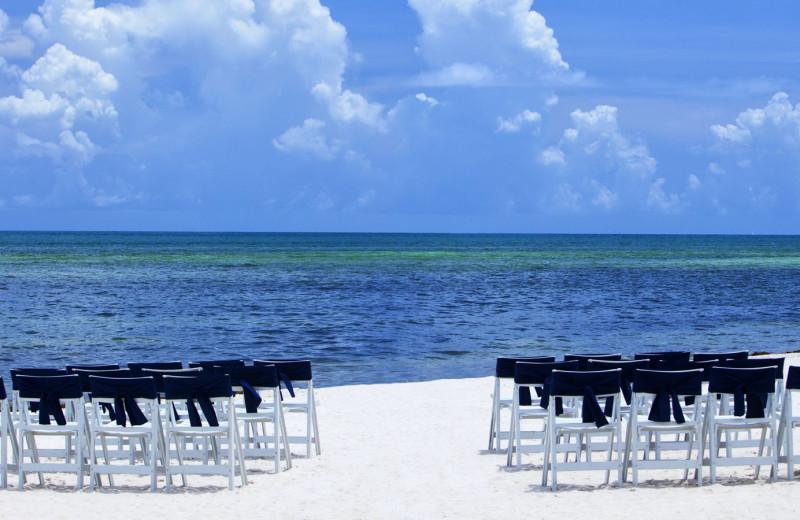 Beach wedding at Sheraton Suites Key West.