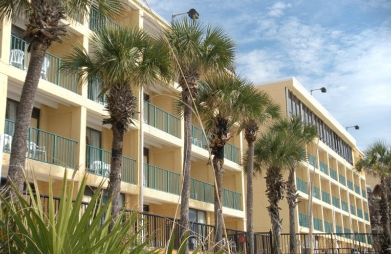 Exterior view of Paradise Palms Inn.