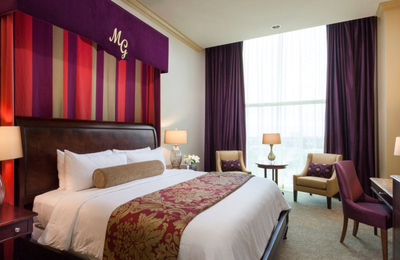 Guest suite at Moody Gardens Hotel Spa & Convention Center.