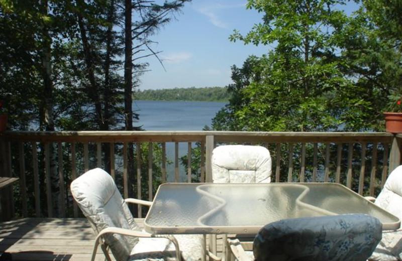Cabin Balcony at Ice Cracking Lodge & Resort