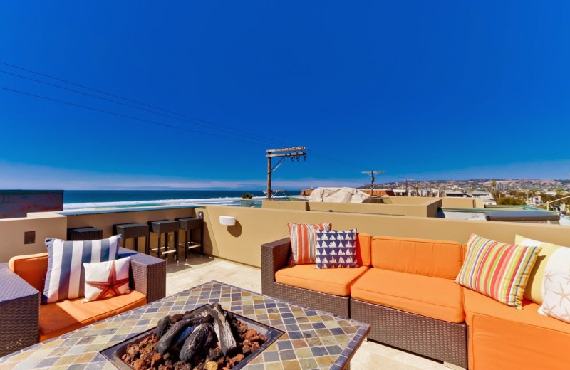 Rental patio at Mission Sands Vacation Rentals.