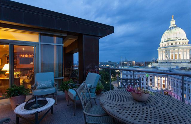 Rental balcony at The Conger Collection.