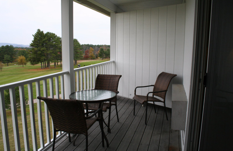 Guest balcony at Windrifter Resort.
