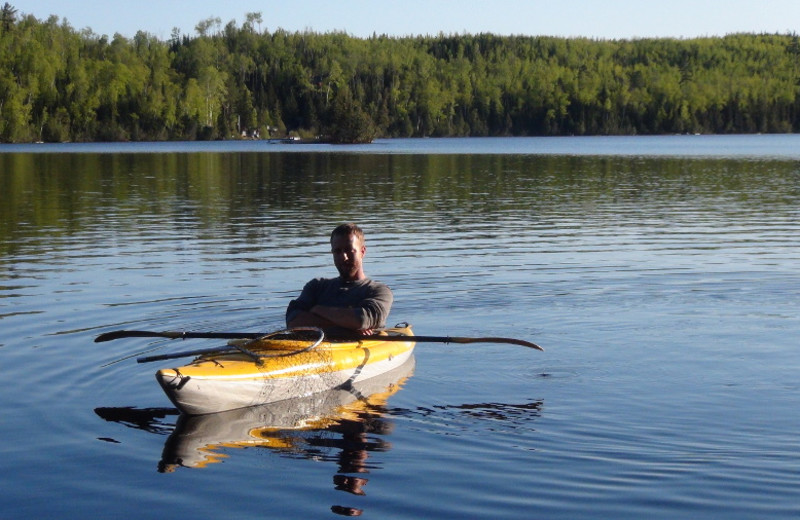 Kayaking  at Loon Lake Lodge.