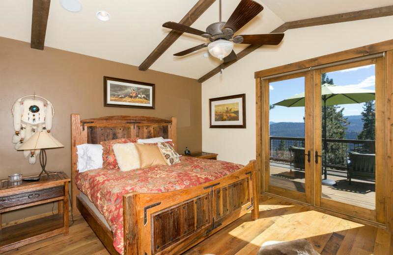 Rental bedroom at Tahoe Getaways.