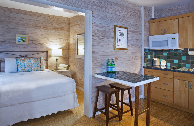 Guest room at Island City House Hotel.