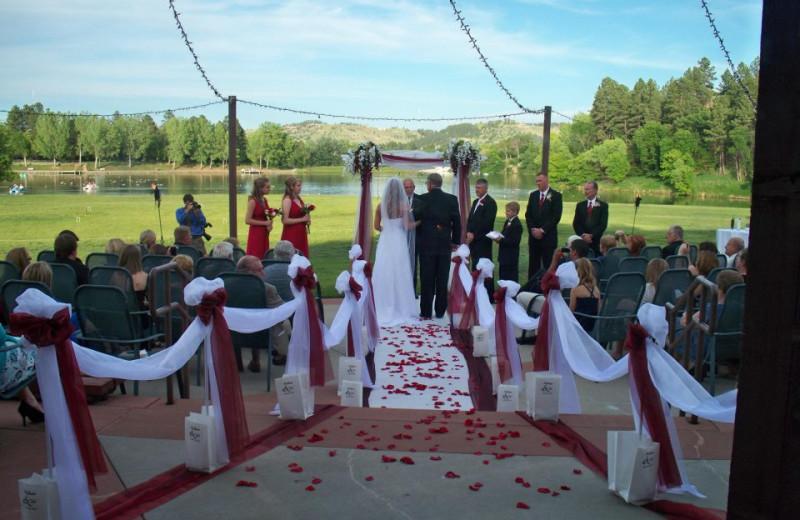 Wedding at Canyon Lake Resort.