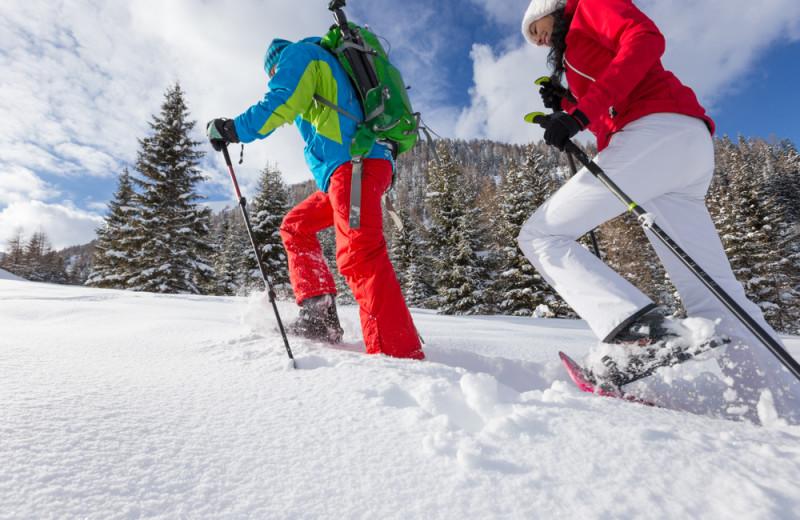Skiing at Superior Shores Resort.