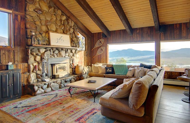Guest living room at Bella Vista Estate.