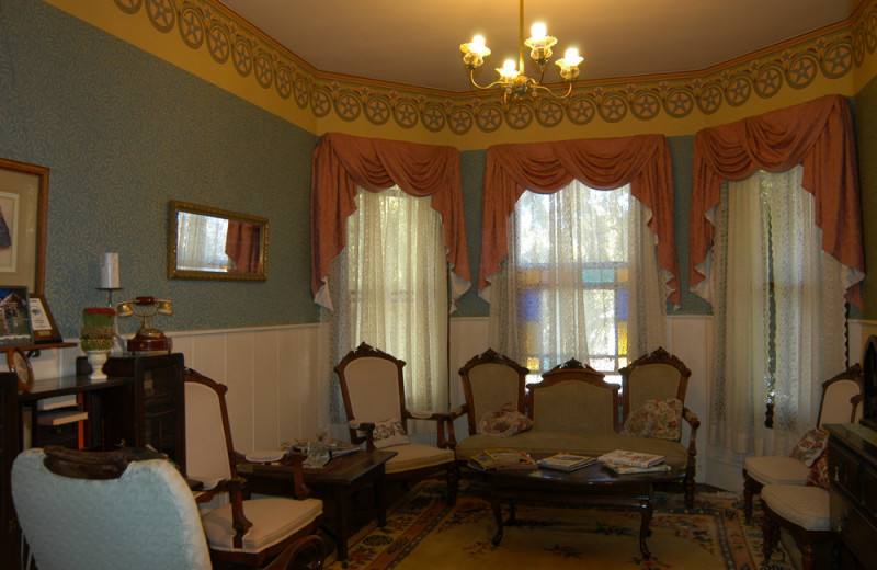 Parlor view at Madison Street Bed & Breakfast