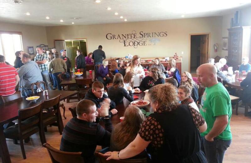 Family reunion at Granite Springs Lodge.