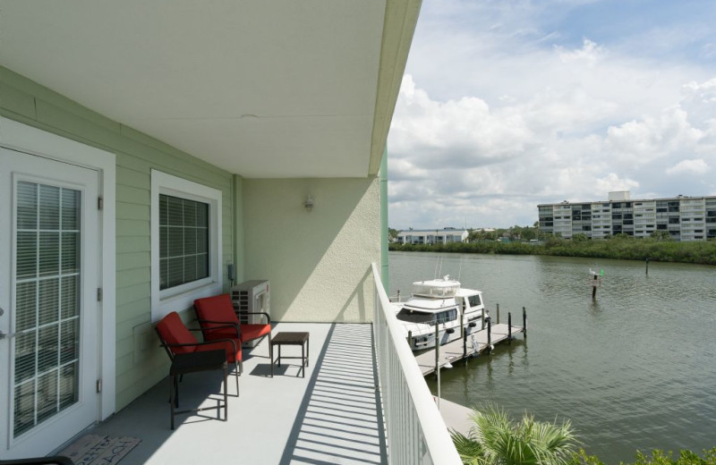 Rental balcony at Plumlee Gulf Beach Realty.